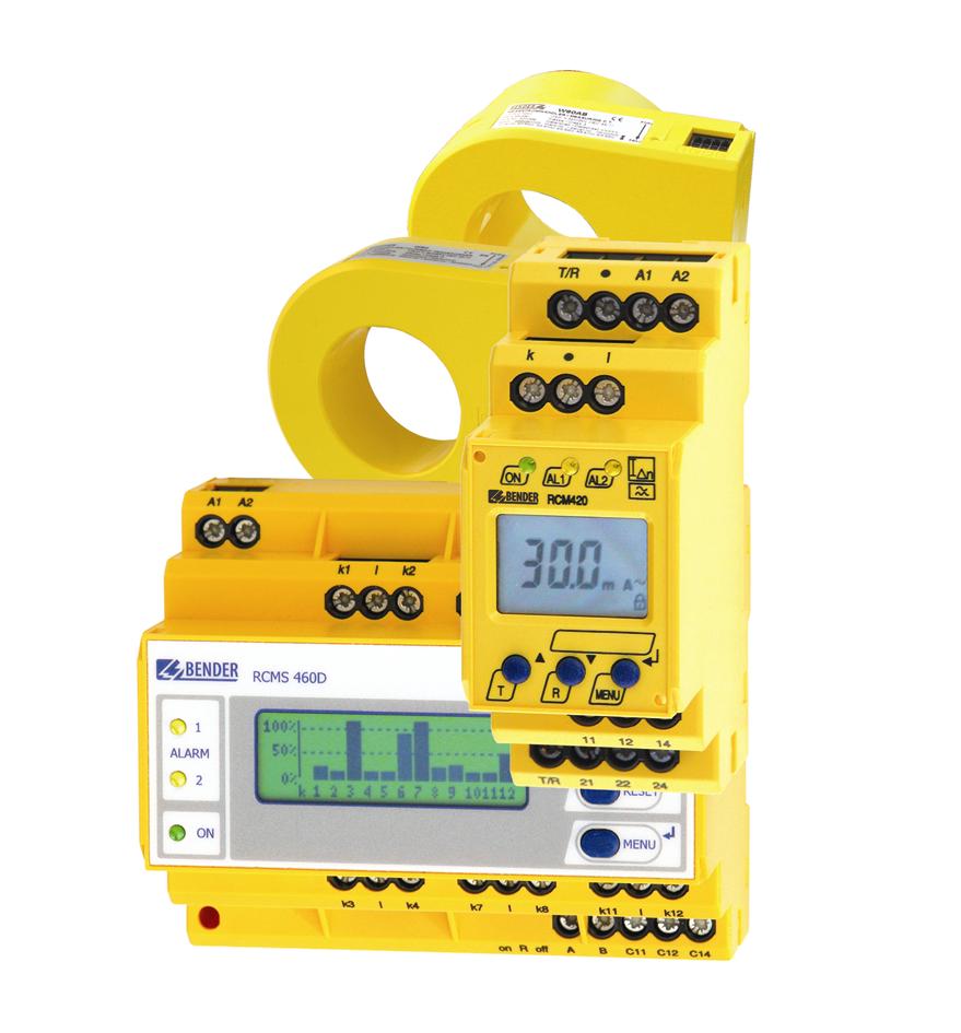 Auswahl von Differenzstrom-Überwachungssystemen Typ RCMS460, RCM420 und Messstromwandlern