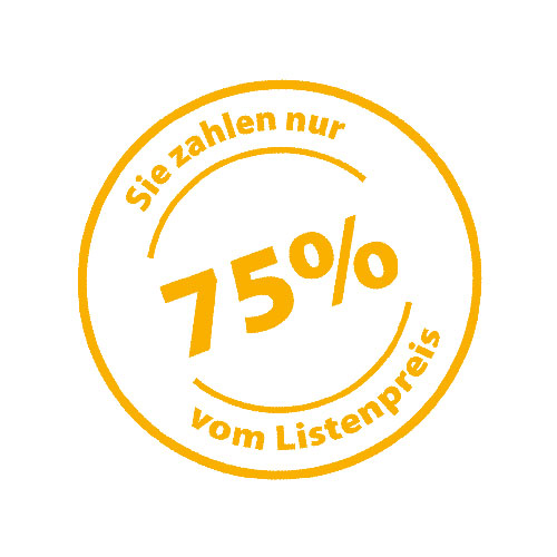 75 % auf Listenpreis