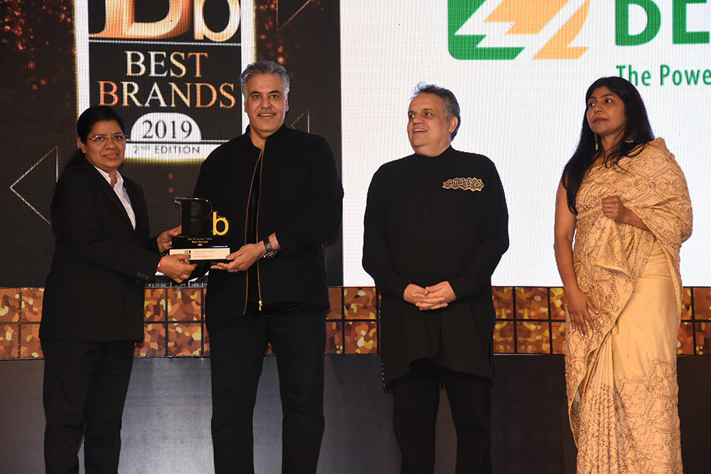 "Bender Indien gewinnt den ""The Economic Times Best Brands 2019"" Award"